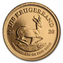1/10 troy ounce gouden Krugerrand munt Proof