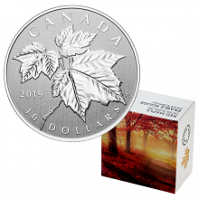 1/2 Troy ounce zilveren munt Maple Leaf 2019