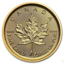 1/20 Troy ounce gouden Maple Leaf munt 2020
