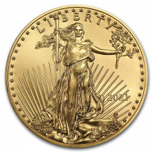 1/4 Troy ounce gouden American Eagle 2021