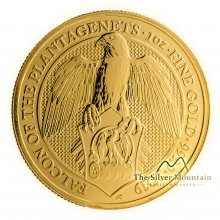 1 Troy ounce gouden munt Queens Beasts Falcon of the Plantagenets 2019