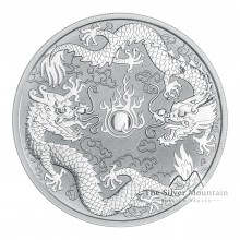 1 Troy ounce zilveren munt Dragon and Dragon 2019