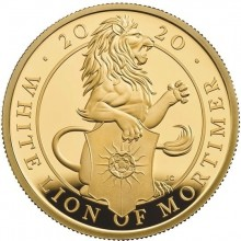 1 Troy ounce gouden munt Queens Beasts White Lion Proof