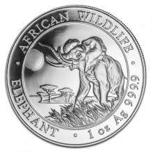 1 troy ounce zilver Somalische Olifant 2016