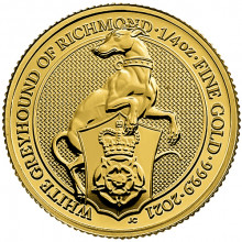 1 Troy ounce gouden munt Queens Beasts White Greyhound 2021