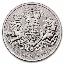 1 Troy ounce platina munt Royal Arms 2020