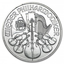 1 Troy ounce Platina Philharmoniker munt 2018