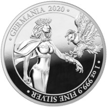 1 Troy ounce zilveren munt Germania 2020 Proof