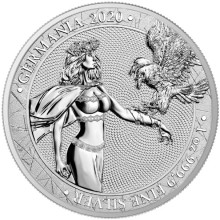 1 Troy ounce zilveren munt Germania 2020