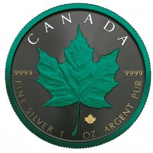 1 Troy ounce zilveren munt Maple Leaf Ruimte Beplanting 2020