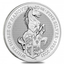 10 Troy ounce zilveren munt Queens Beasts White Horse 2021