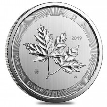 10 Troy ounce zilveren munt Magnificent Maple Leaf 2019