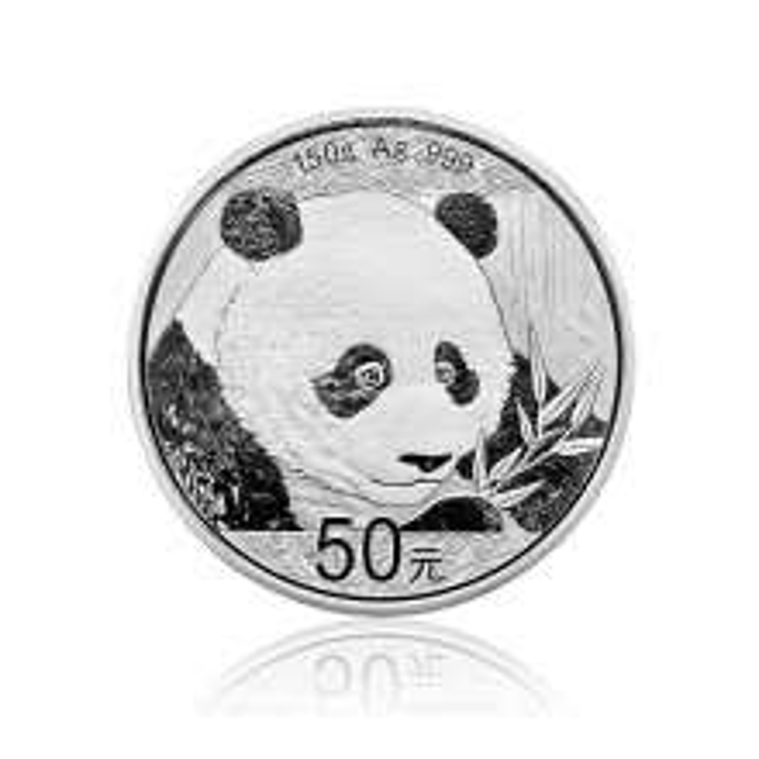 150 Gram zilveren munt Panda 2018