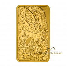 1 Troy ounce gouden muntbaar Rectangular Dragon 2021