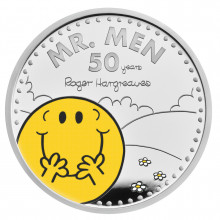 1 troy ounce zilveren munt Mr. Men little Miss-Mr. Happy 50th Anniversary 2021