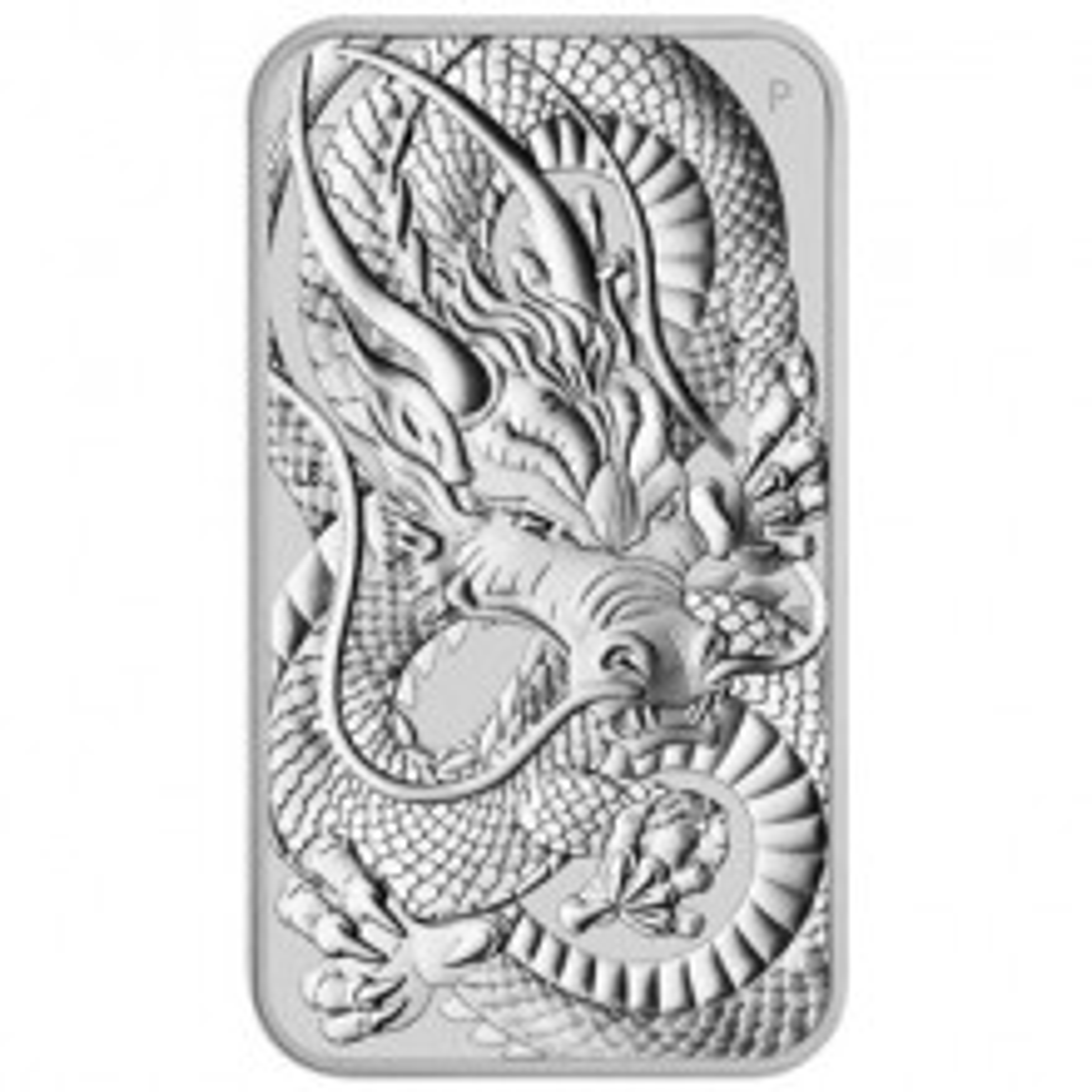 1 Troy ounce zilveren muntbaar Rectangular Dragon 2021
