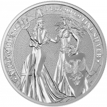 1 Troy ounce zilveren munt Germania Allegories 2019