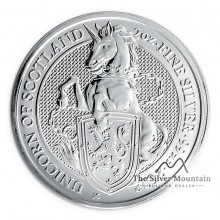 2 Troy ounce zilveren Queens Beast 2018 Unicorn
