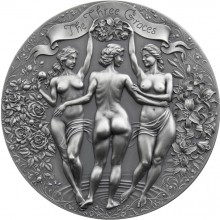 2 troy ounce zilveren munt Three Graces 2020