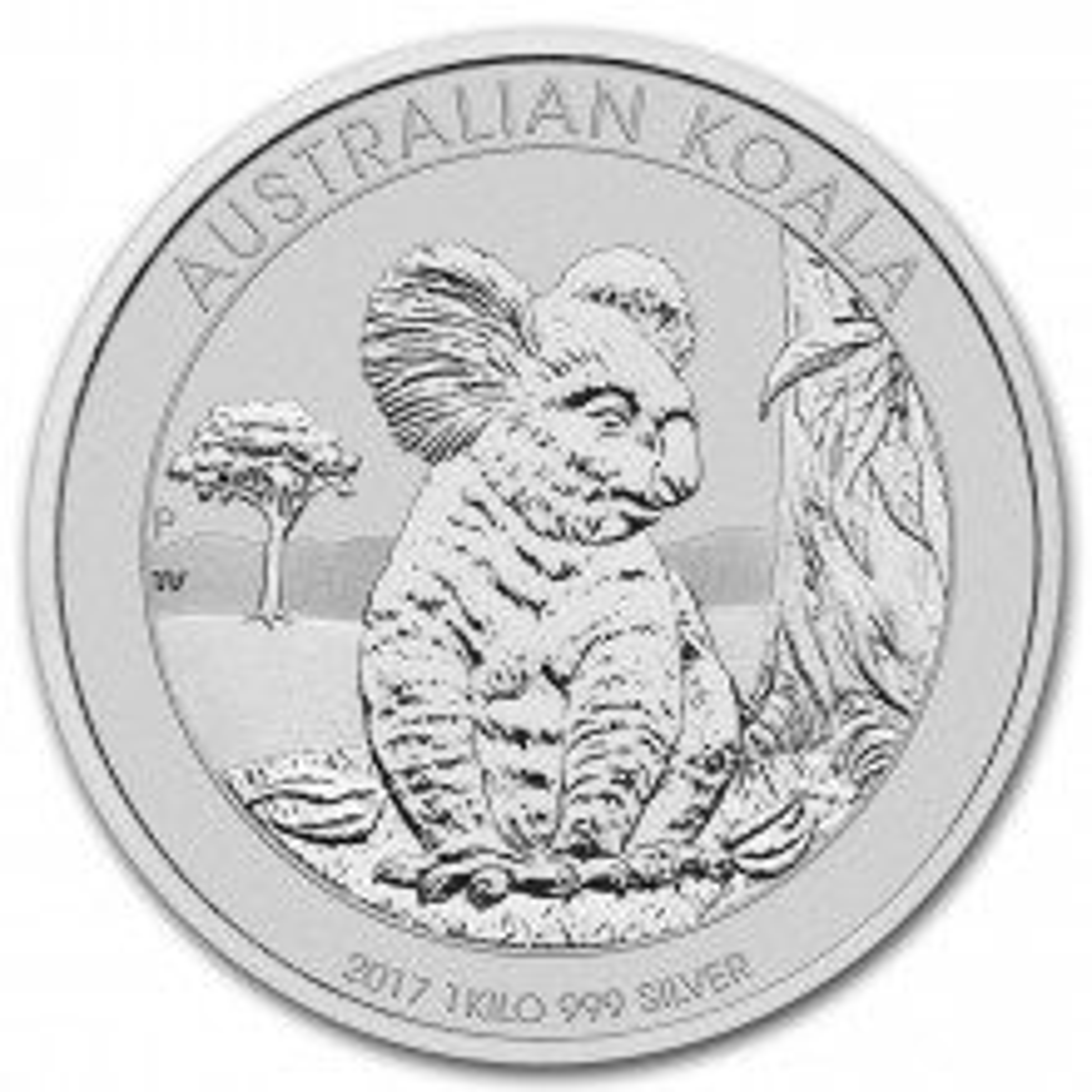 2017 1 kg silver Koala Australia  Front