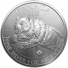 1 Troy ounce zilveren munt Grizzly - Predator serie 2019