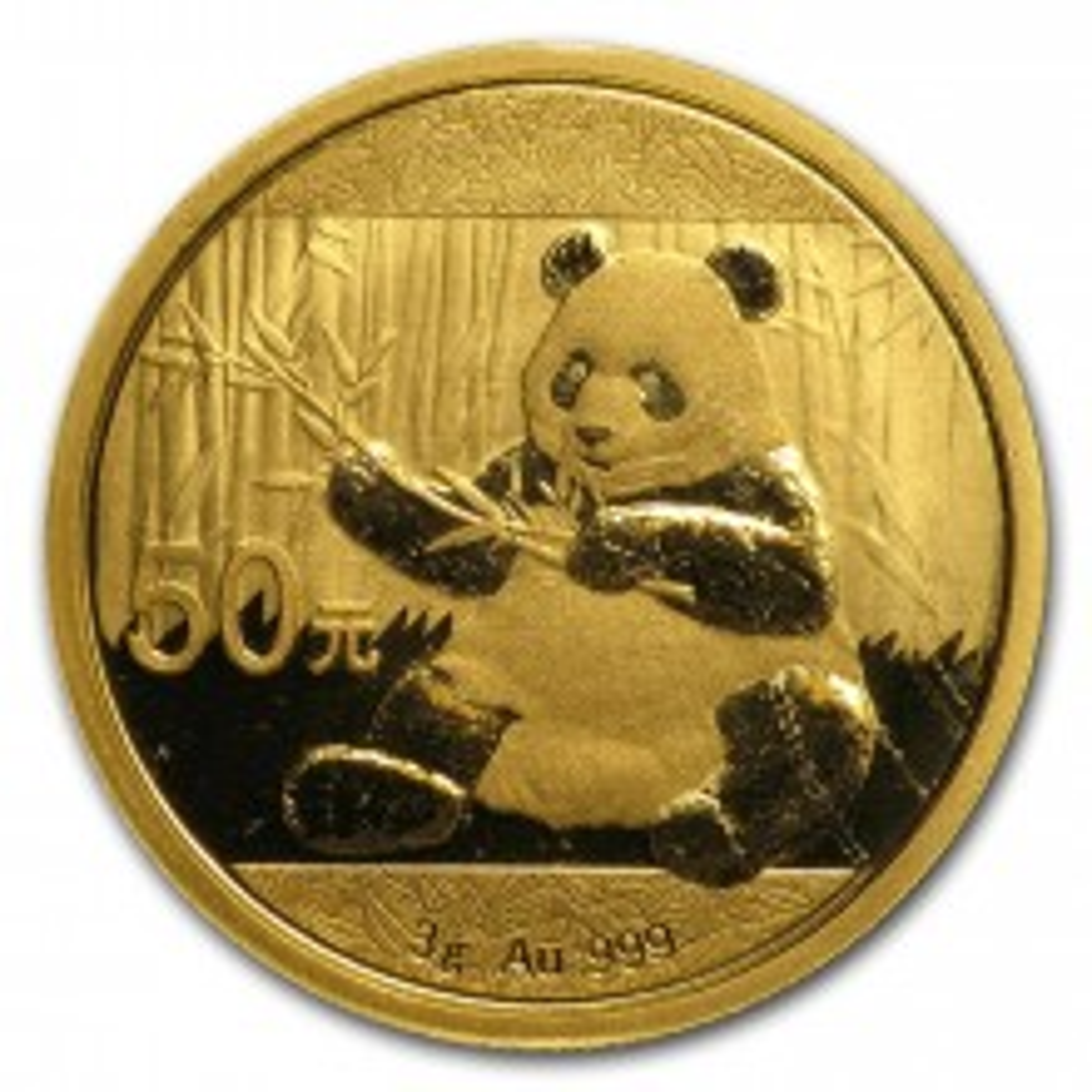 3 Gram gouden Panda munt 2017