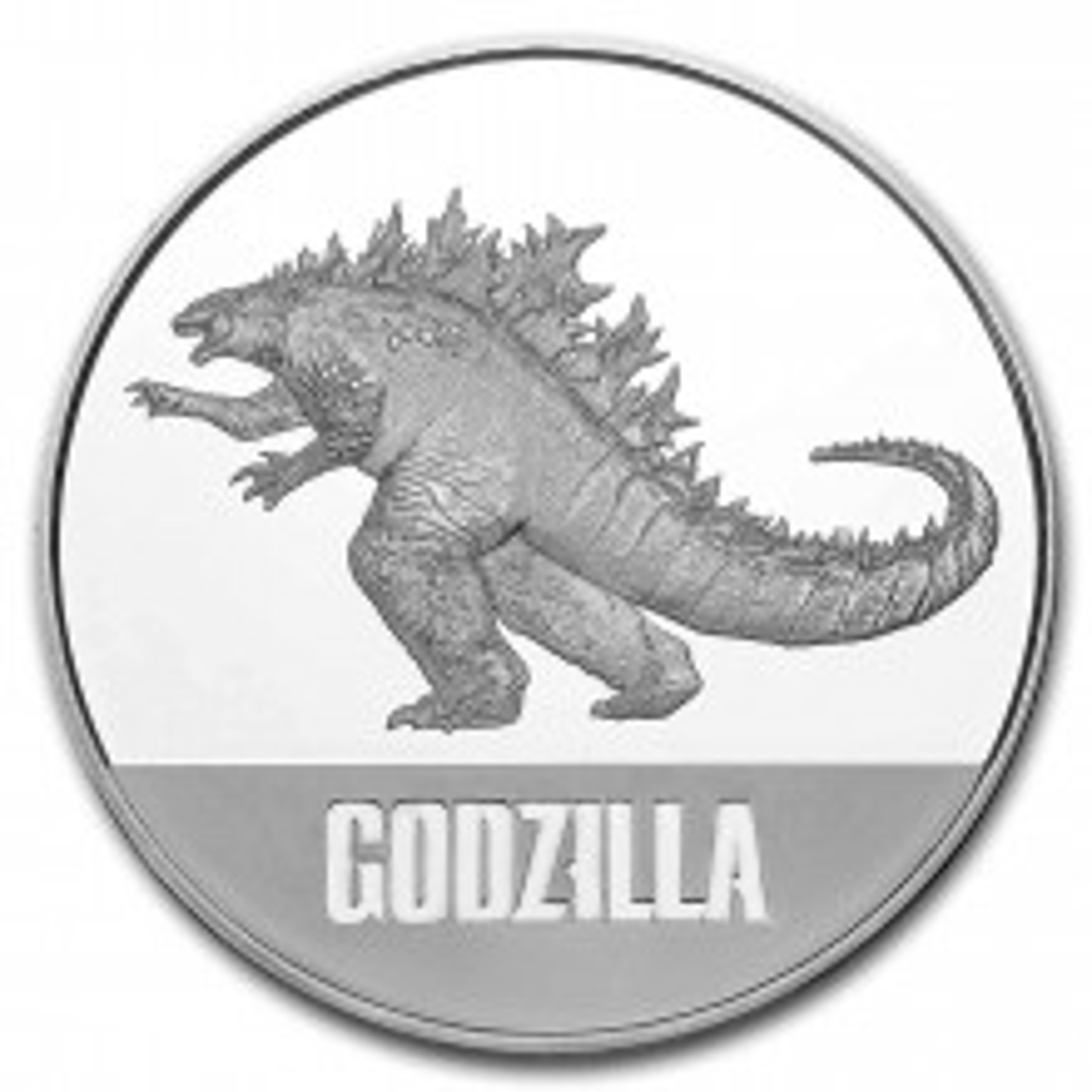 1 troy ounce zilveren munt Goldzilla 2021