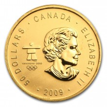 1 Troy ounce gouden munt Vancouver 2009