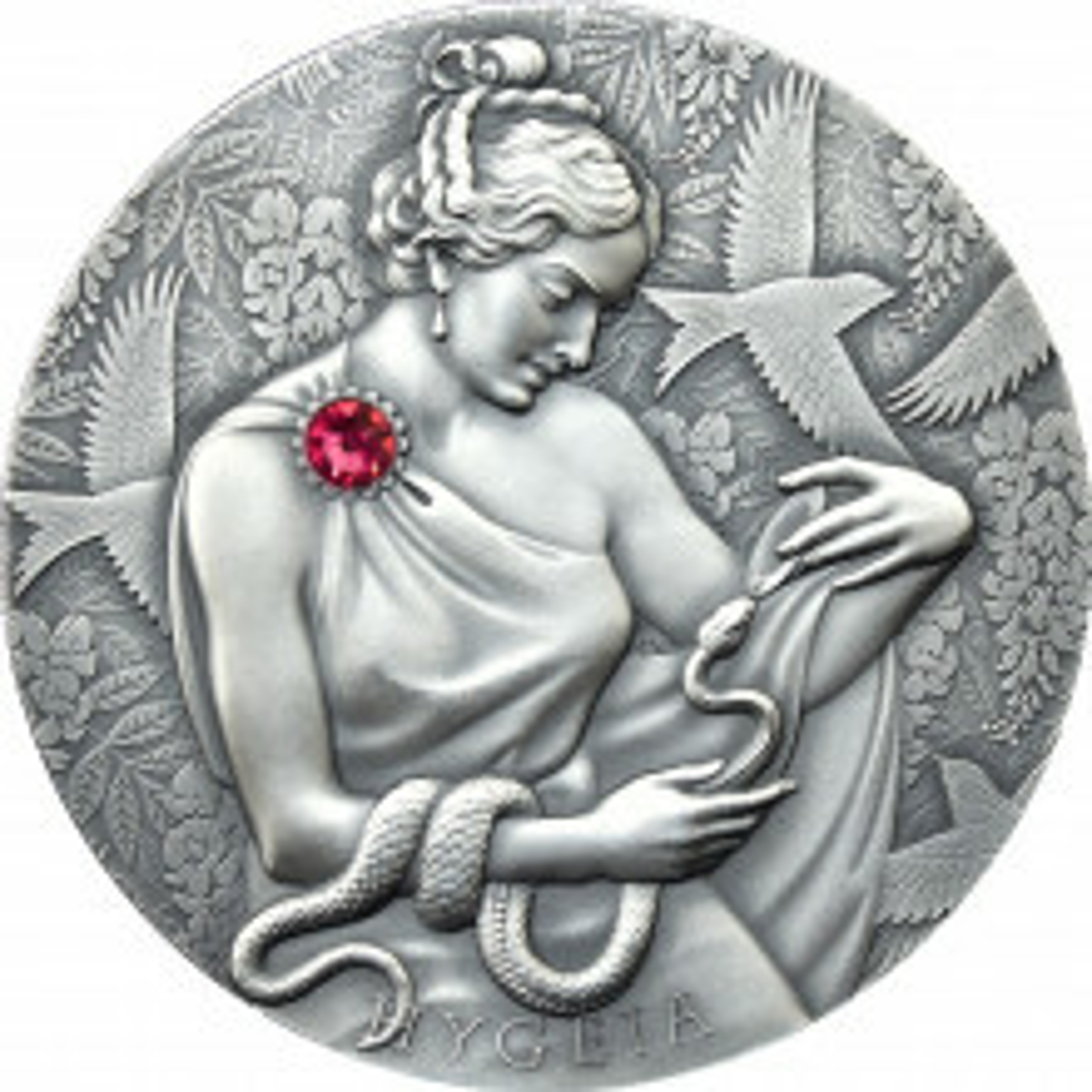 2 troy ounce zilveren munt Hygeia 2021