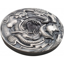 3 troy ounce zilveren munt Scylla and Charybdis Evil Within 2020