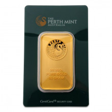 Goudbaar 50 gram Perth Mint