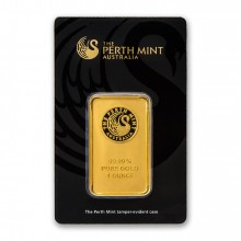 1 Troy ounce goud baar Perth Mint
