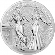 10 Troy ounce zilveren munt Germania en Italia 2020