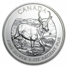 1 troy ounce zilveren Maple Leaf Antilope 2013