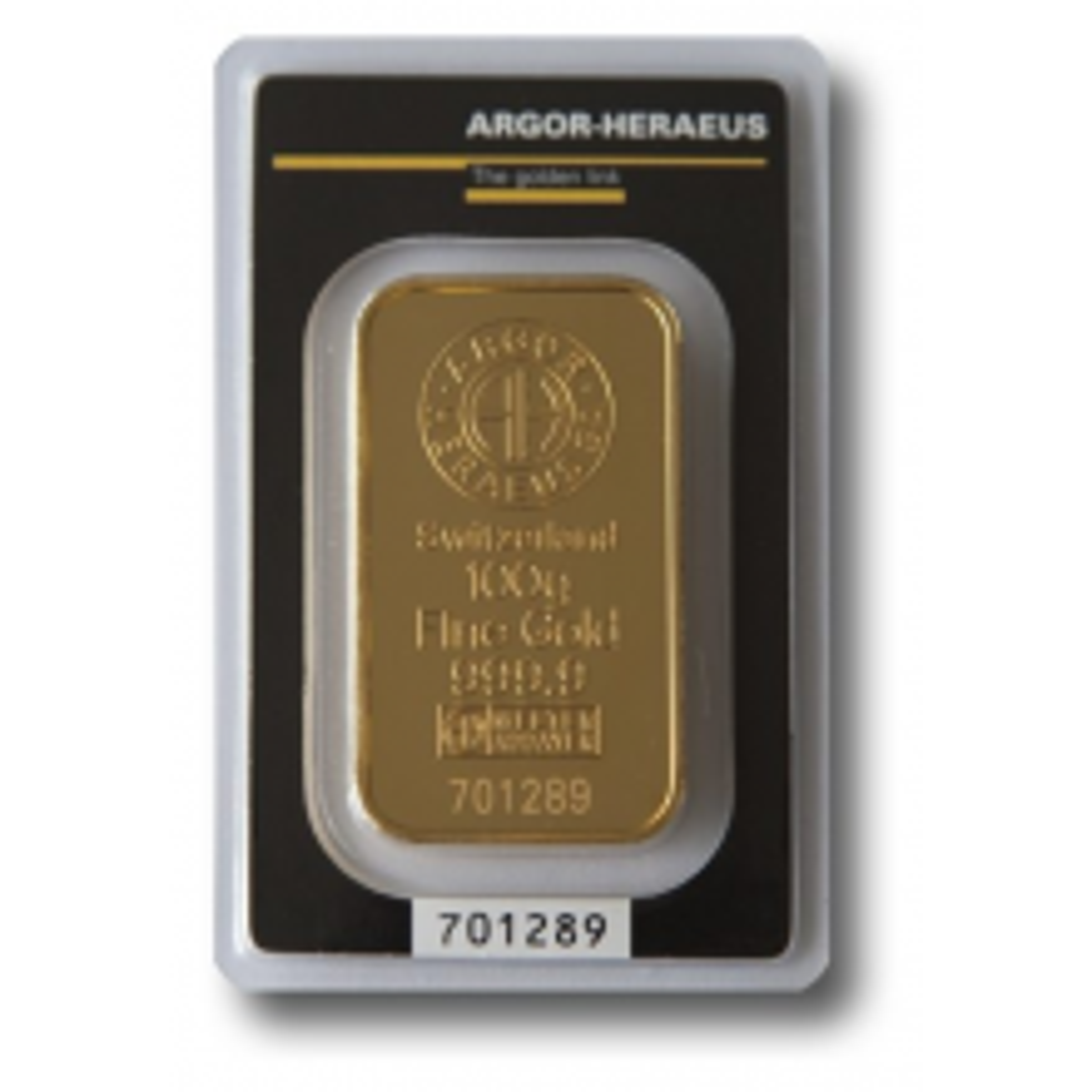 Argor Heraeus goudbaar 100 gram goud