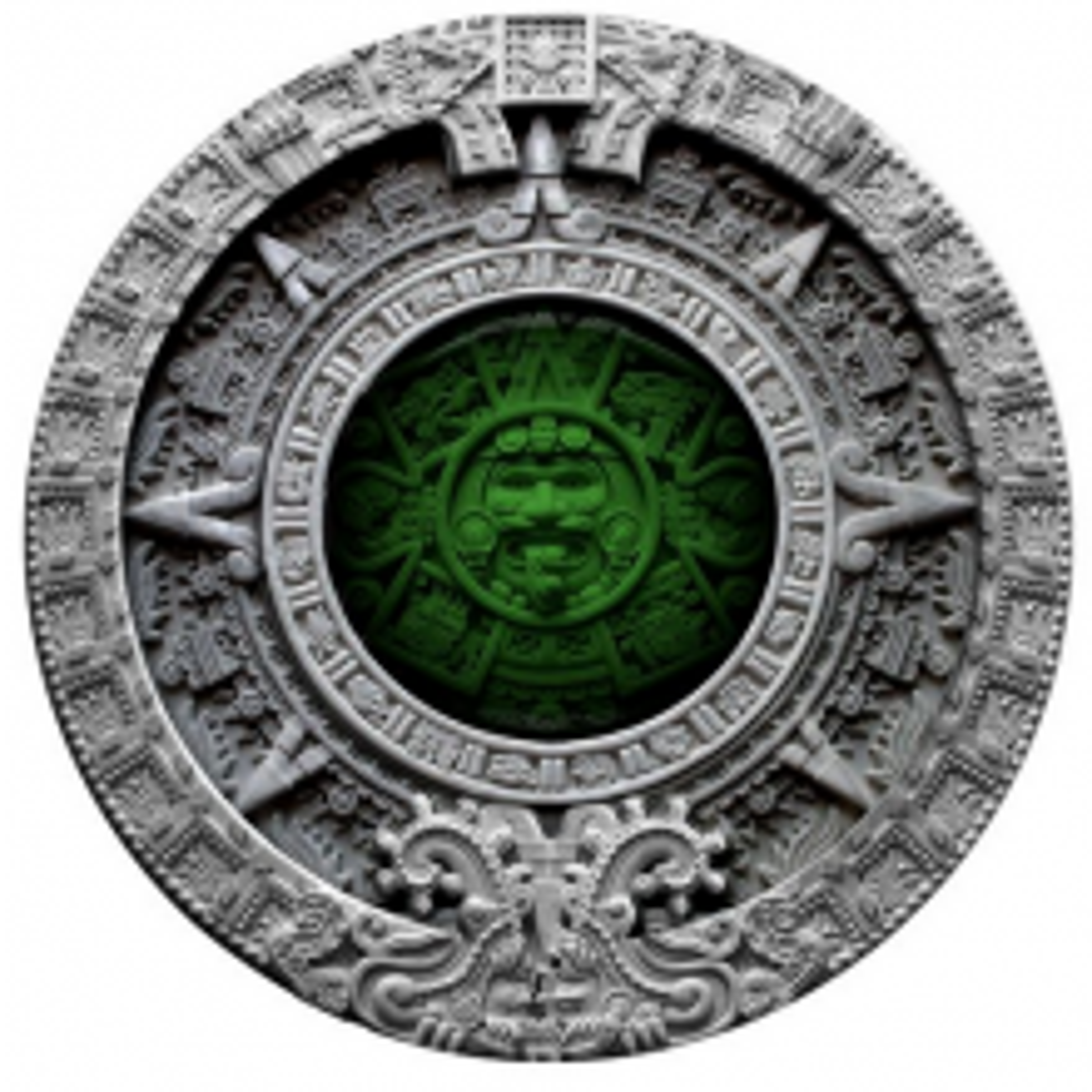 2 Troy ounce zilveren munt Niue Azteekse kalender 2019