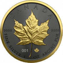 1 Troy ounce zilveren munt Golden Ring - Maple Leaf 2021