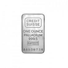 1 Troy ounce palladium baar Credit Suisse