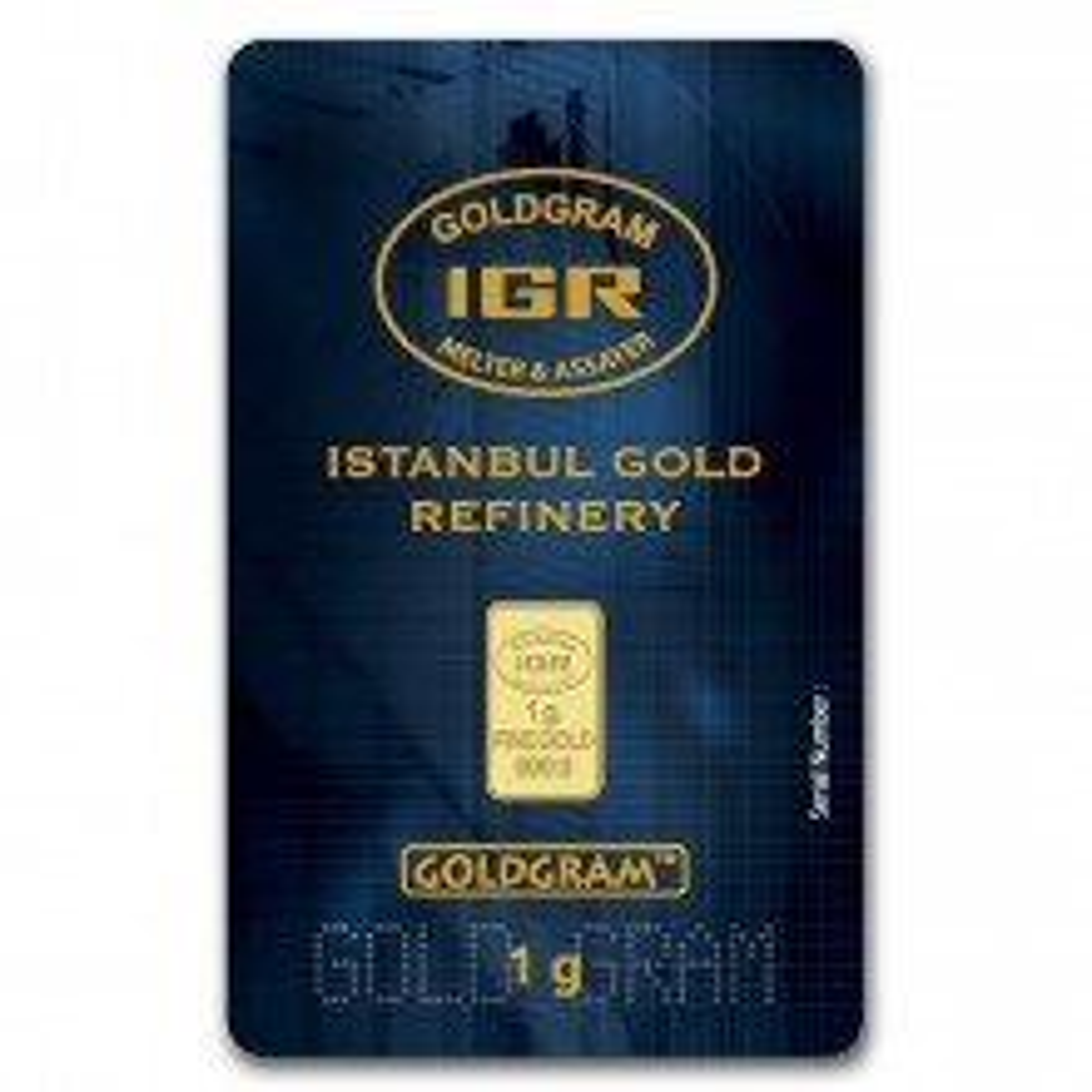 Goud baar 1 gram Istanbul Gold Refinery in blister