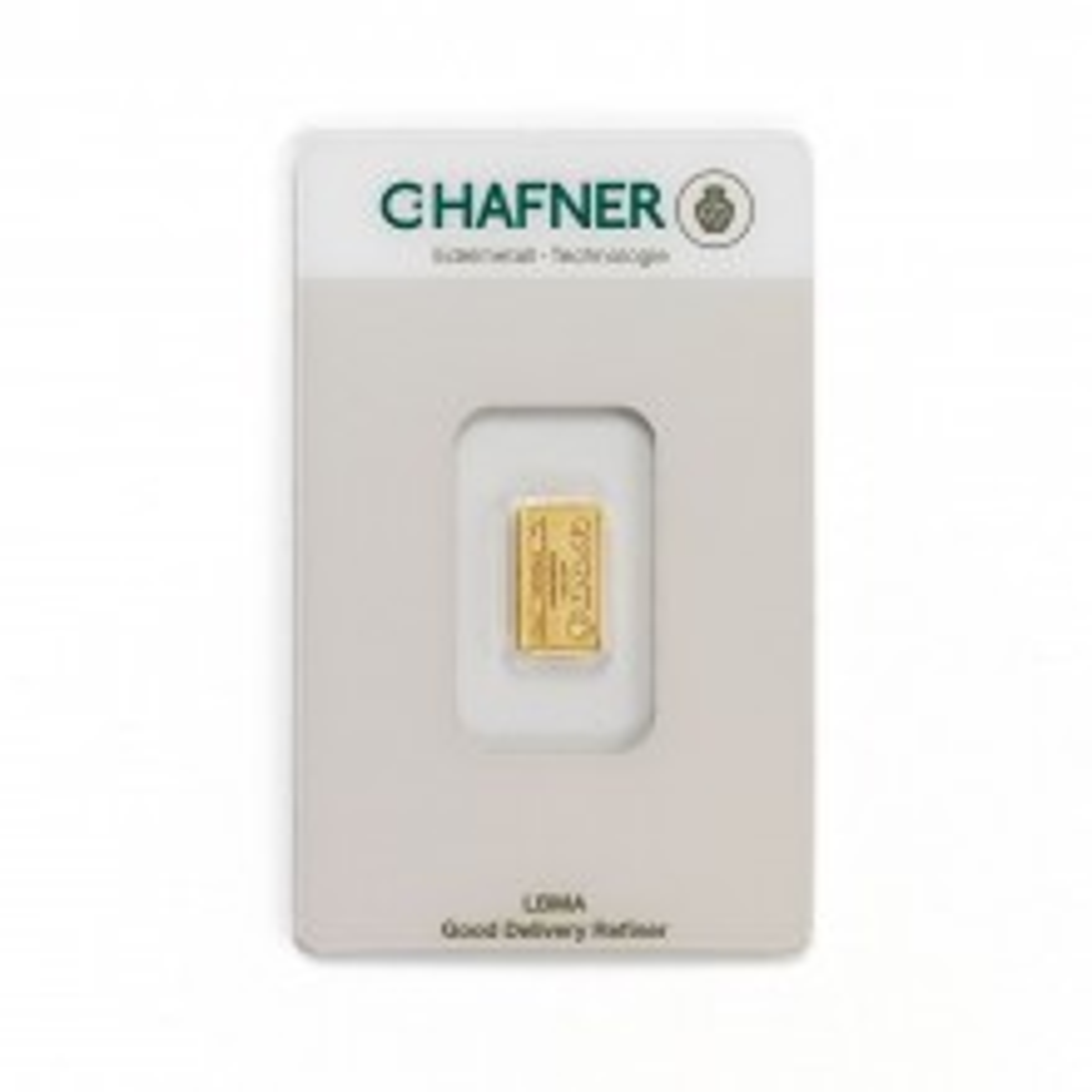 Goudbaar 1 gram C. Hafner