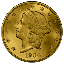 $20 gouden munt Double Eagle (Coronet Head)