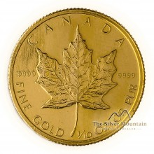 Gouden 1/10 troy ounce Maple Leaf munt