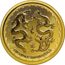 1 Troy ounce gouden munt Niue Double Dragon 2018