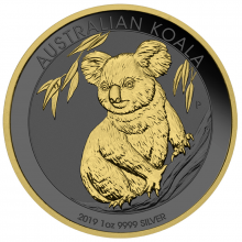 1 Troy ounce zilveren munt Golden Ring - Koala 2019