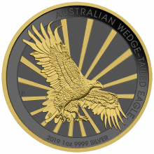 1 Troy ounce zilveren munt Golden Ring - Wedge Tailed Eagle 2019