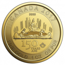 1 troy ounce gouden Maple Leaf 2017 Voyageur