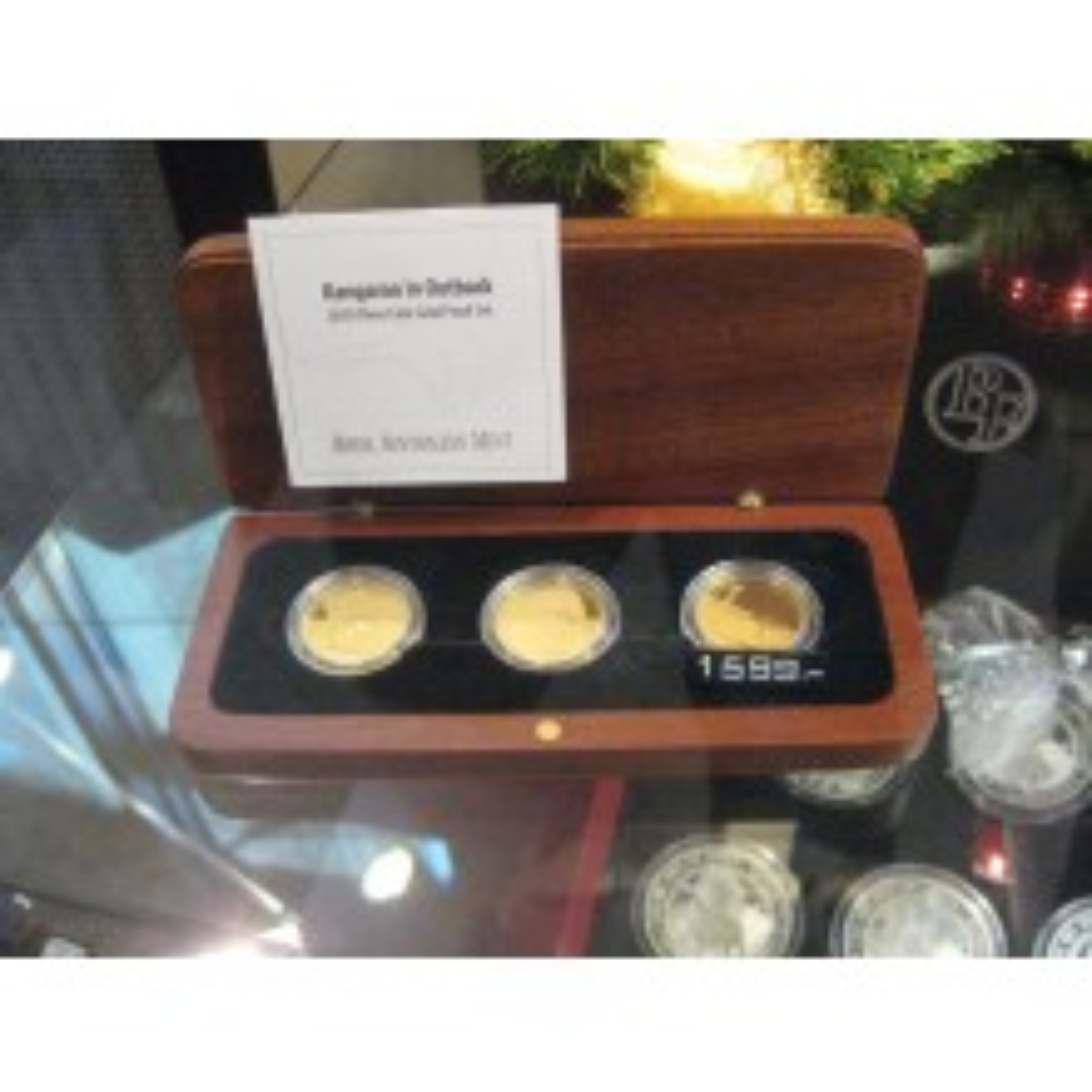 Set 1/5 troy ounce Kangaroo munten 2011 in proof kwaliteit