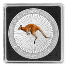 1 Troy ounce zilveren munt Kangaroo 2017 Color