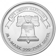 1 troy ounce zilver Liberty Bell munt