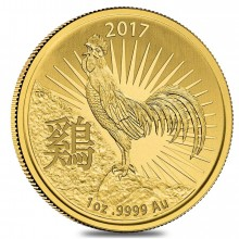 1 Troy ounce gouden munt China Lunar 2017